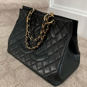CHANEL CAVIER LEATHER GOLD CHAIN GST (3 of 3) Pics